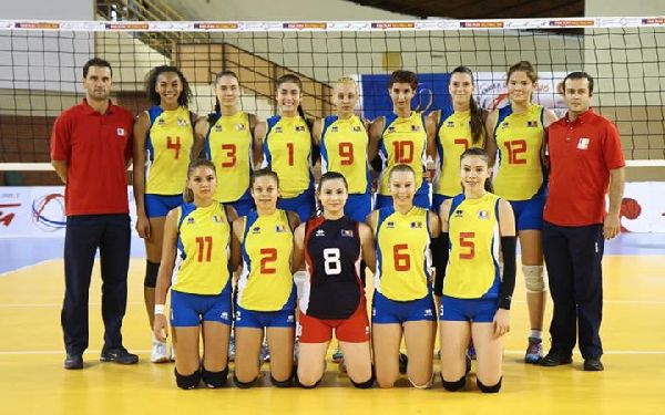 Nationala junioare volei Romania 2015