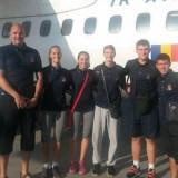 Delegatia Romaniei înainte de plecarea sper Campionatele Europene de volei pe plaja