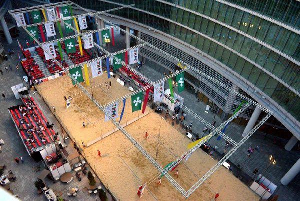 Aici se joaca Mastersul de volei pe plaja de la Milano