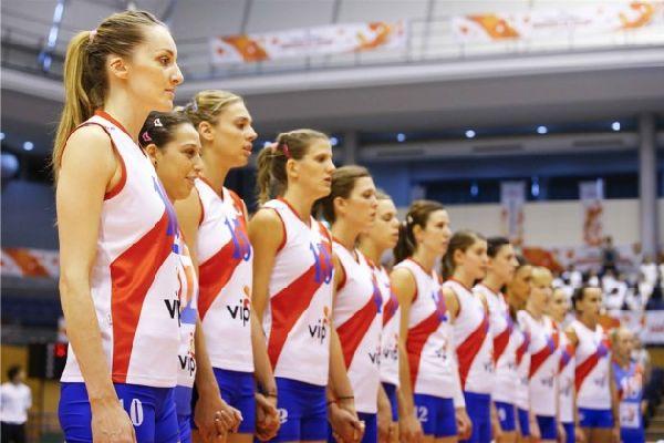 Echipa Serbiei, inaintea unui alt meci de la Cupa Mondiala de volei feminin