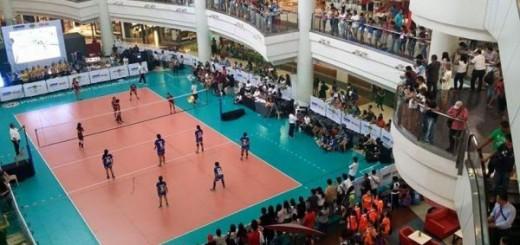 In Thailanda, voleiul se joaca si la mall