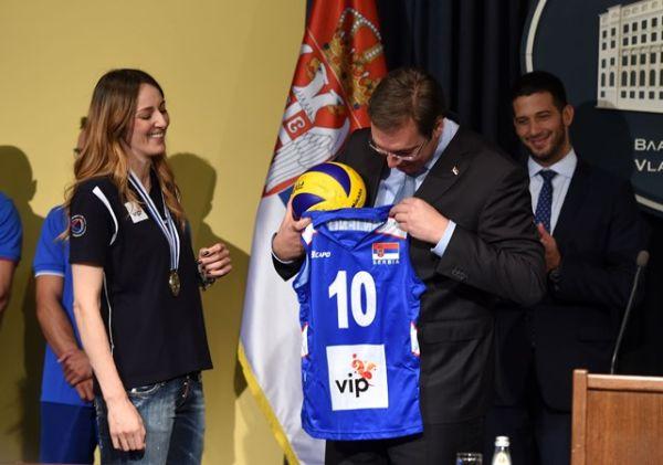 serbia prim ministru cadou volei