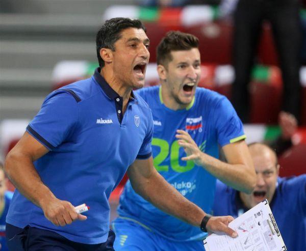 Andrea Giani, antrenorul Sloveniei