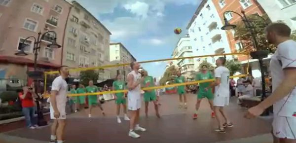 volei flash-mob bulgaria video