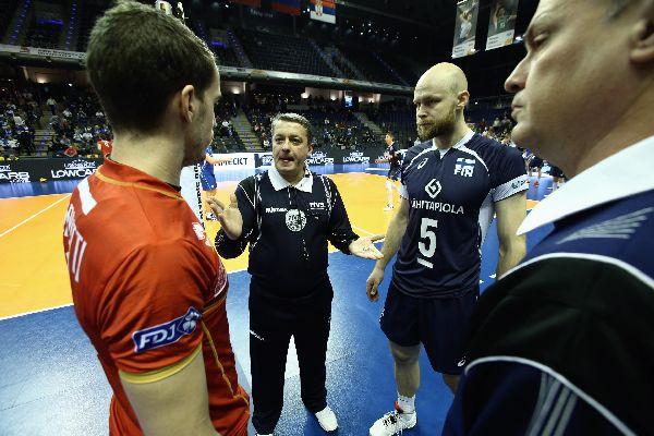 Lucian Nastase la tragerea la sorti a meciului Franta - Finlanda