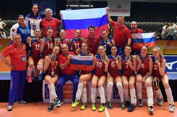 rusia campioana europeana under 18 volei