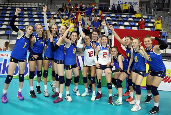 romania under 16 volei  bucurie