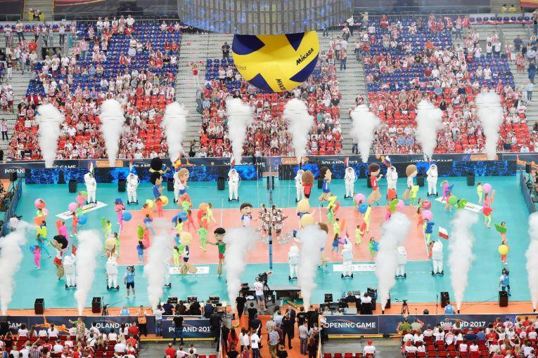 ceremonie deschidere europene volei polonia