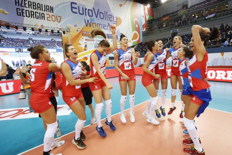 serbia bucurie campionat european volei