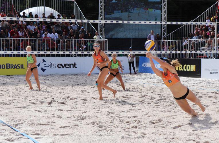 adriana matei si beata vaida s-au calificat în finala turneului de volei pe plaja de la Miguel Pereira, din Brazilia