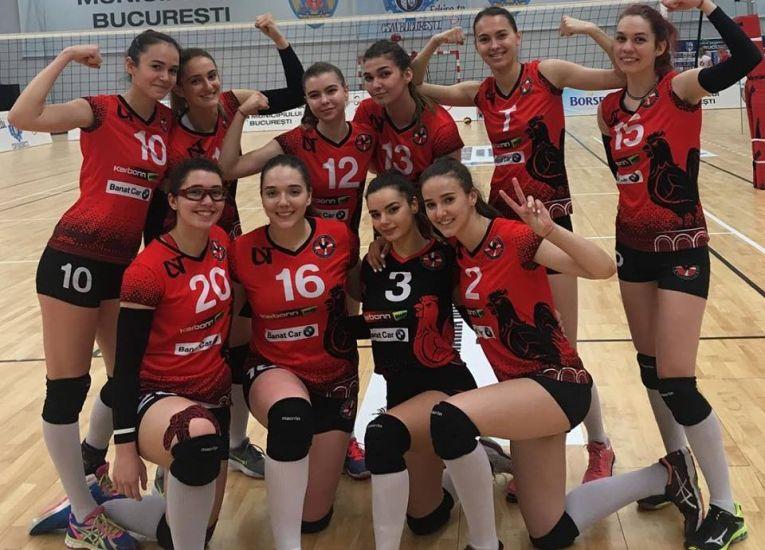 Echipa de volei junioare Agroland Timisoara la turneu final al campionatului national