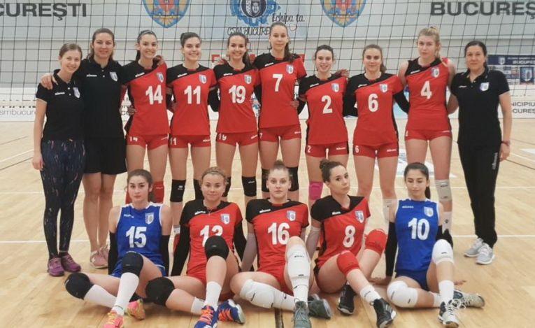 Echipa de volei junioare CSM Bucuresti s-a calificat in semifinalele campionatului national