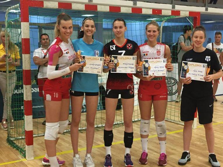 Jucatoarele care au primit premii individuale la finalul campionatului de volei pentru junioare
