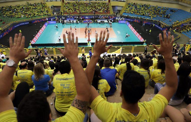 Echipa masculina de volei a Braziliei s-a calificat in turneul Final 6 in VNL 2018