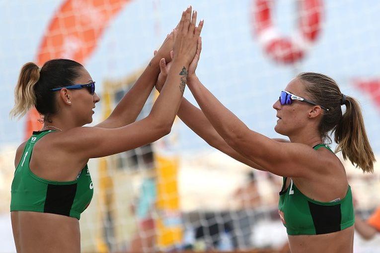 Ariana Pirv și Beata Vaida au inceput colaborarea in luna iunie 2018 la volei pe plajă