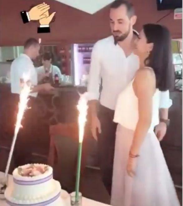 Mihaela Ozun si Mladen Jeremic si tortul de nunta