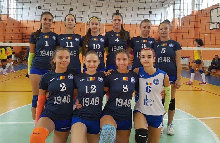 Echipa de volei cadete a CSV Craiova