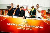 Antrenorii echipelor din Grupa A de la Campionatul Mondial feminin de volei 2018