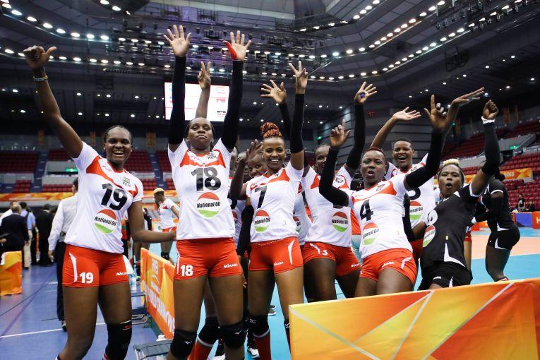 Nationala Kenyei a dansat de bucurie dupa victoria de la Campionatul Mondial feminin de volei din Japonia