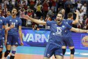 Nationala de volei a Argentinei si bucuria dupa victoria obținută în fața Poloniei la Campionatul Mondial