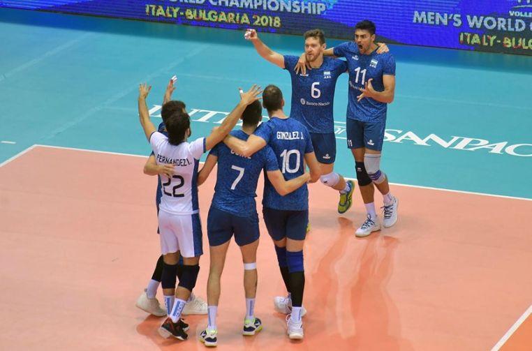 Argentina si bucuria calificarii in faza a doua a Mondialului de volei