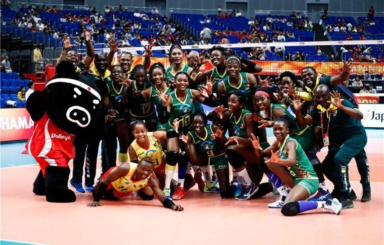 Echipa Camerunului și bucuria primei victorii din istorie la Campionatul Mondial de volei feminin
