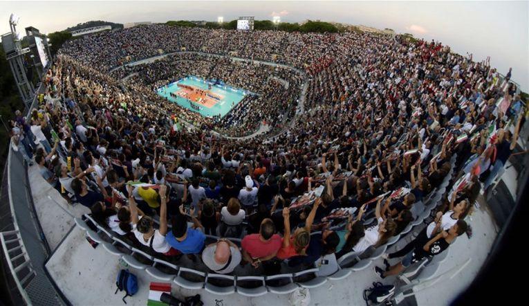 11.170 de spectatori la meciul de deschidere al Campionatului Mondial de volei 2018, Italia - Japonia