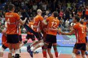 Bucuria jucatorilor nationalei de volei a Olandei