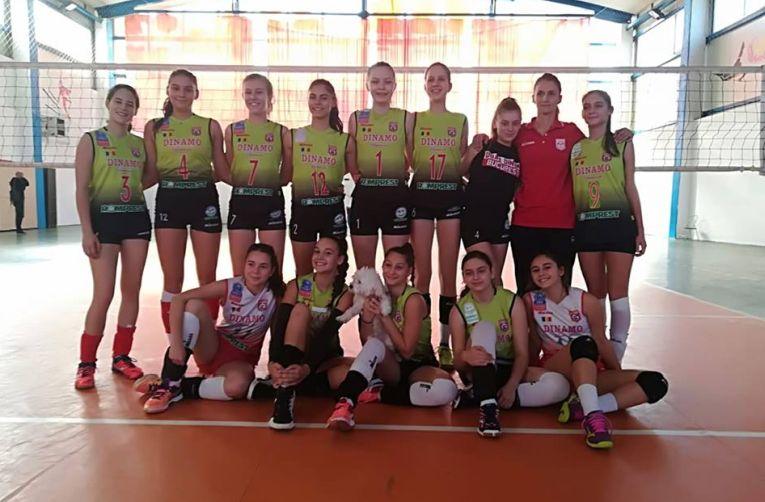 Echipa de volei cadete Dinamo in campionatul 2018/ 2019