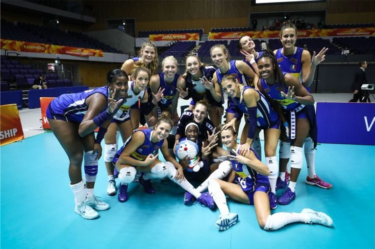 Italia si bucuria calificarii in faza a doua a Campionatului Mondial de volei
