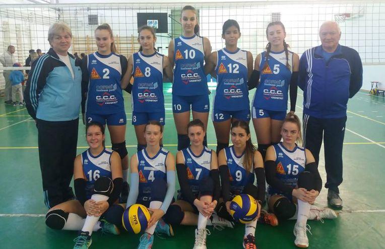 Echipa de volei junioare a clubului Juvenil Brasov