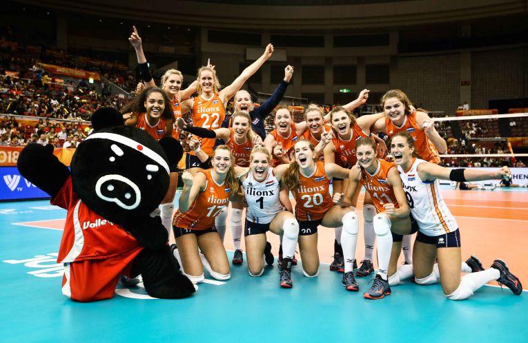 Olanda si bucuria calificarii in semifinalele Campionatului Mondial feminin de volei 2018