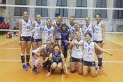 Echipa feminina de volei CSM Bucuresti dupa victoria de la Bacau, cu Stiinta
