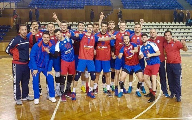 Steaua, după victoria obținută la Cluj, în etapa a sasea a Diviziei A1 la volei masculin