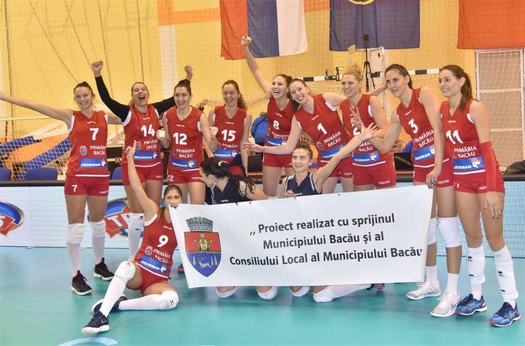 Stiinta Bacau si bucuria dupa victorie in Cupa CEV