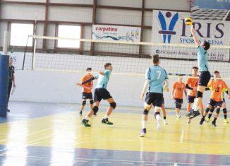 Tudor Constantinescu, setter volleyball u17 team CTF Mihai I in action