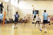 Tudor Constantinescu setter volleyball U18 team CTF Mihai I Bucharest in action