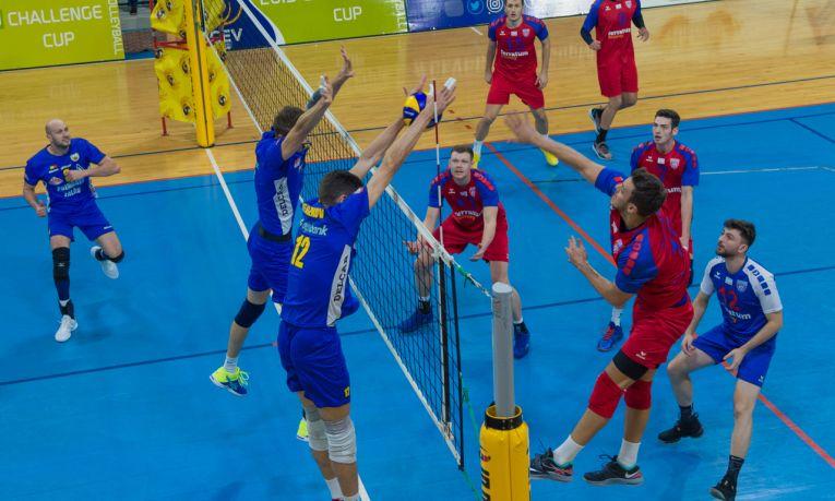Volei Municipal Zalau a invins pe Steaua in Cupa Challenge la volei masculin