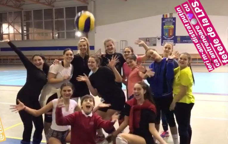 Cristina Pîrv, antrenoare cadete LPS Cluj echipa fiica sa, Nicoll