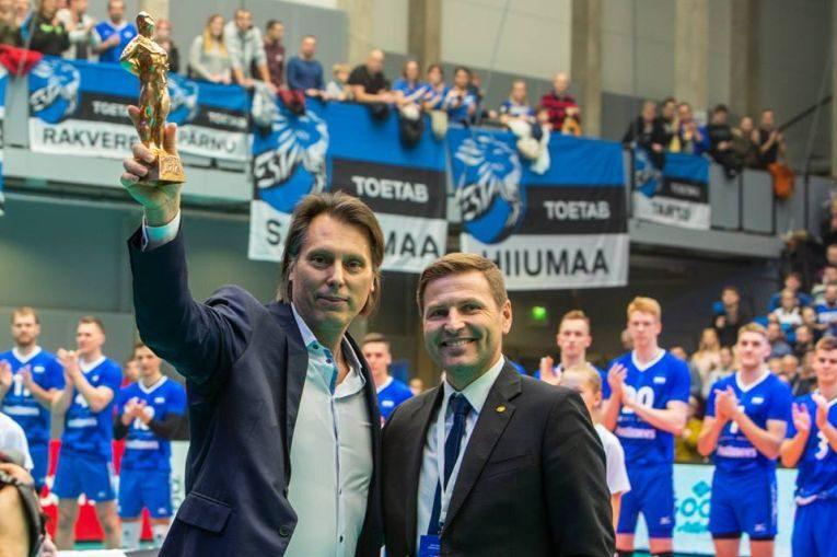 gianni cretu premiat de federatia estoniana de volei