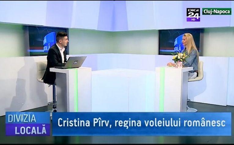Cristina Pirv la divizia locala Digi 24 Cluj