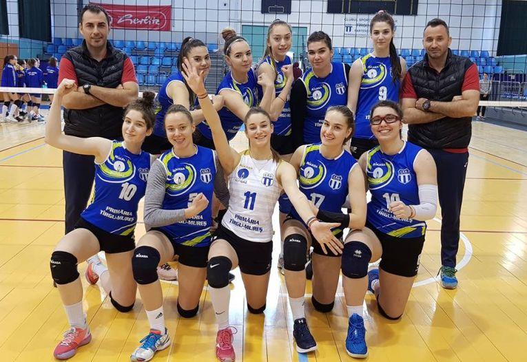 Echipa de junioare Medicina Târgu Mureș, calificată la turneul final al campionatului 2018/ 2019