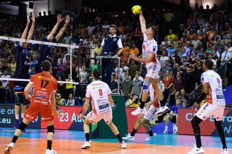 Bulgarul Tvetan Sokolov in actiune in finala Ligii Campionilor