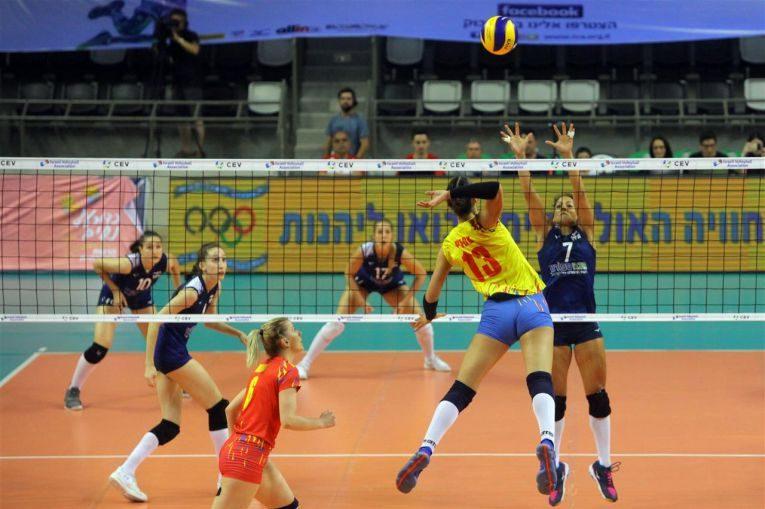 Ariana Pîrv în atac în meciul cu Israelul