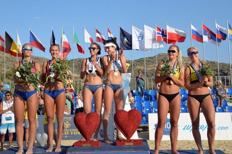 Beata Vaida si Ioana Ordean, pe treapta a doua a podiumului turneului de volei pe plaja de la Ios