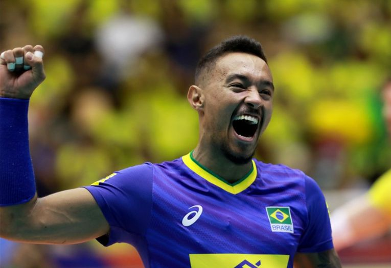 Liberoul Braziliei, Maique Reis Nascimento, este unul dintre cei mai spectaculoși jucători din actuala ediție a VNL 2019