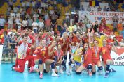 Nationala feminină de volei, cu trofeul Silver League