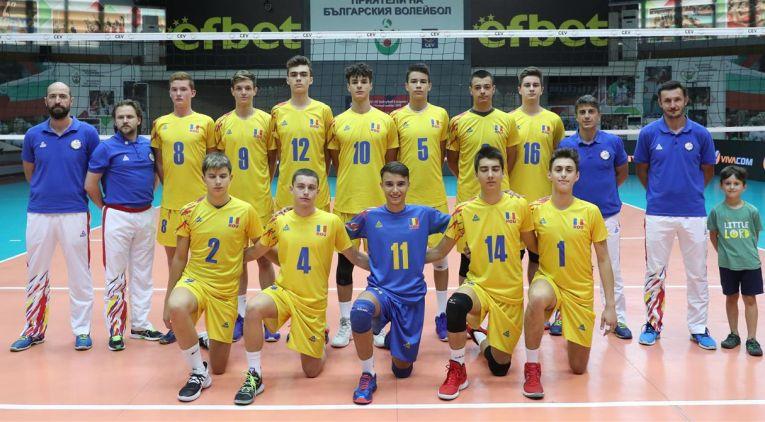 Naționala masculina de volei Under 17 a Romaniei la Campionatul European