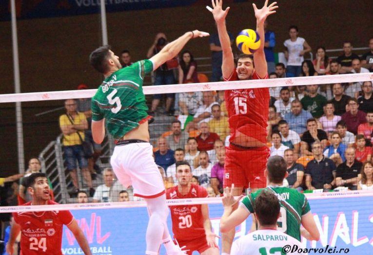 Svetoslav Gotsev în acțiune, contra Iranului, în meciul din VNL care a avut  loc la Plovdiv, în luna iunie 2019