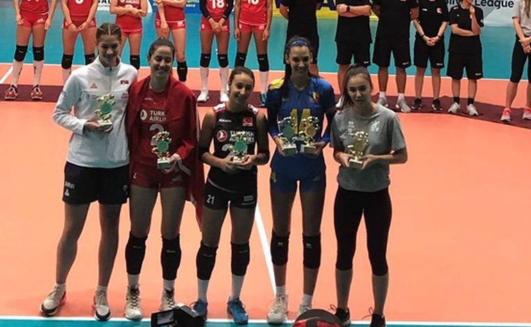 Jucătoarele care au primit distincții individuale la Campionatul Balcanic U17